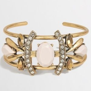 J. Crew Gold Jeweled Cuff Bracelet
